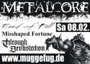 Veranstaltungsflyer Metalcore over Muggefug
