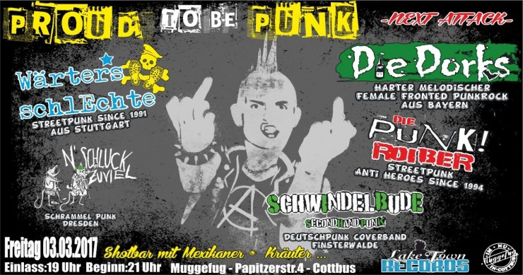 Proud to be Punk - Flyer